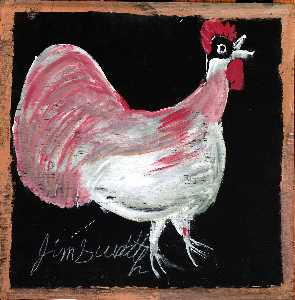 Jimmy Lee Sudduth - Untitled (Chicken)