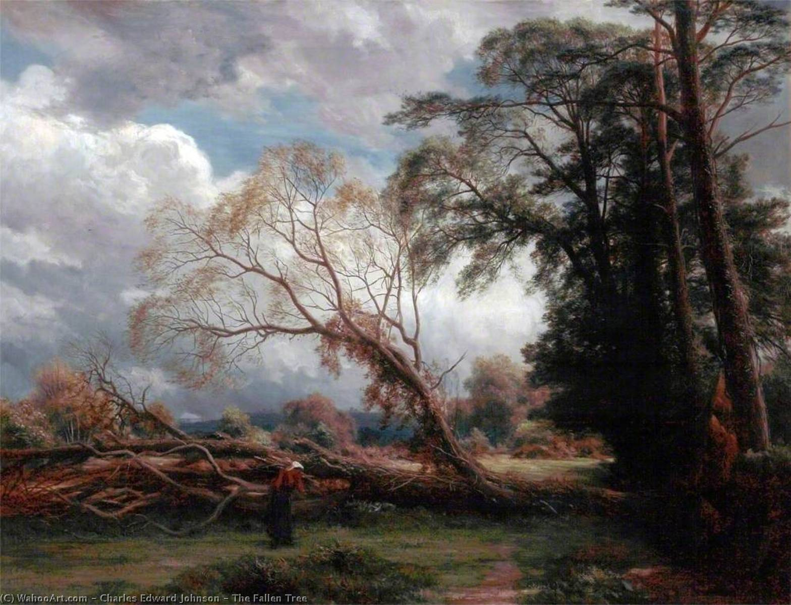 The Fallen Tree, 1882 by Charles Edward Johnson | Oil Painting | ArtsDot.com