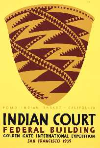 Louis Siegriest - Pomo Indian Basket, Calif..
