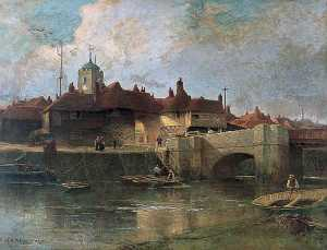 Henry Maurice Page - Barbican and River Stour,..