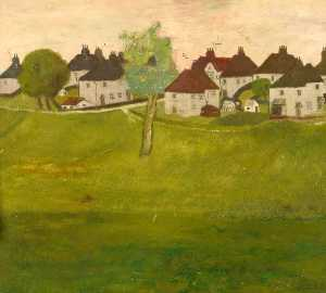 Eric Meadus - Park with Houses