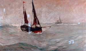 Ernest Dade - The 'Amity' Leaving for t..