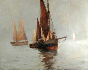Ernest Dade - Ferrying Herrings, Scarbo..