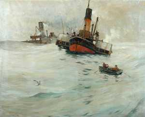 Ernest Dade - Trawlers Waiting for thei..