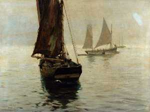 Ernest Dade - The 'Amity' Going to Sea