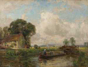 Henry Mitton Wilson - Canal in a Landscape