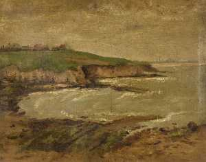 Constance Dutton Thompson - Coastal Scene, Small and ..