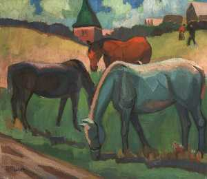 Paula Fischer - Three Horses