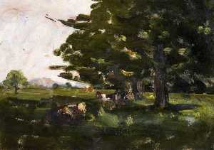 Nathaniel Hone Ii - Cows under Trees