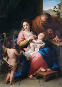 Anton Raphael Mengs - The Holy Family with the ..