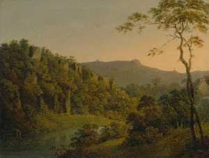 Joseph Wright Of Derby - Matlock Dale, looking tow..