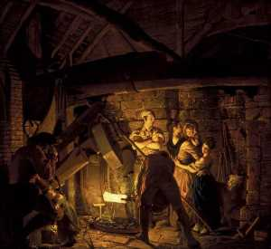 Joseph Wright Of Derby - An Iron Forge