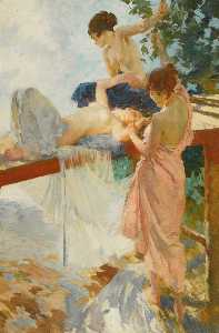 William Russell Flint - The Painted Bridge