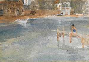 William Russell Flint - Stephanie-s Jetty