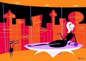 Josh Agle (Shag) - queen of the strip